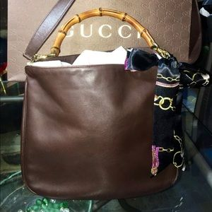Gucci Bamboo Two Way Handbag